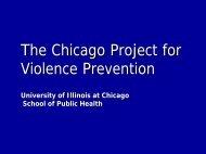 The Chicago Project for Violence Prevention - Comunidade Segura