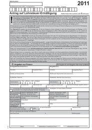 Antrag auf Lohnsteuer-Ermäßigung Weiße Felder bitte ausfüllen ...