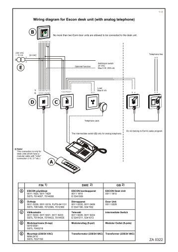 Analog Telephone Wiring Diagram : A wiring diagram techtrans pt s r o