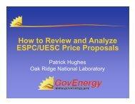 How to Review and Analyze ESPC/UESC Price ... - GovEnergy