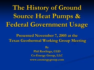 The History Of Ground Source Heat Pumps