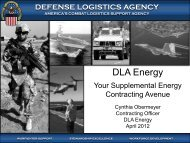 defense logistics agency - EERE