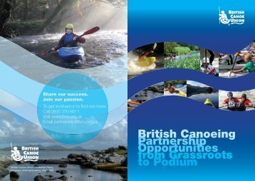 00100109 BCU Partnership leaflet.indd - British Canoe Union