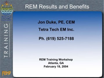 REM Results and Benefits - Energy Program