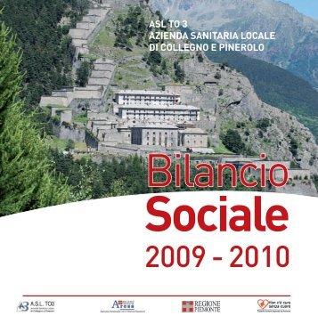 Bilancio Sociale anno 2009-2010 parte I - ASL TO3