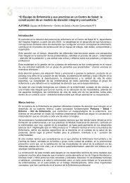"""""""El Equipo de Enfermería y sus practicas en un Centro de Salud: la ..."""