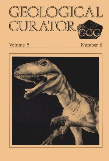Number 8 - Geological Curators Group