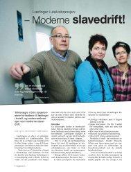 – Moderne slavedrift! - TVU-INFO