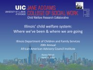 Illinois' child welfare system: Where we've been & where we are going