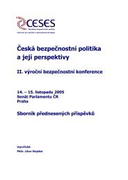 II. Výroční bezpečnostní konference - Centrum pro sociální a ...
