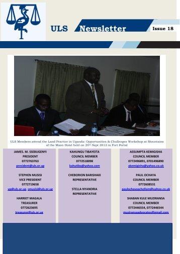 ULS Newsletter Issue 18 - Uganda Law Society