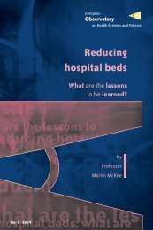 Reducing hospital beds - World Health Organization Regional Office ...