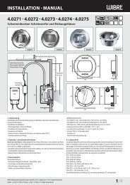 InstallatIon · Manual 4.0271 · 4.0272 - Wibre