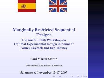 Marginally Restricted Sequential Designs - Universidad de Castilla ...