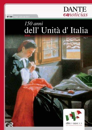 150 anni dell' unità d' Italia - Asociación Dante Alighieri