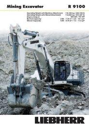 R 9100 Mining Excavator - Liebherr