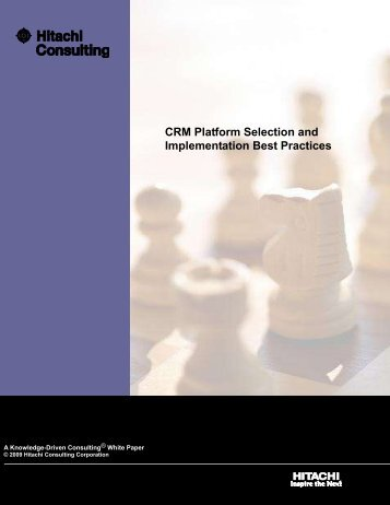 CRM Platform Selection and Implementation Best Practices - Hitachi ...