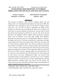 Full Text - Misr Journal Of Agricultural Engineering (MJAE)
