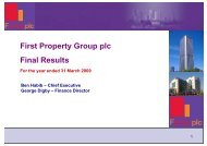 (Prelims) 2009 - Analyst Presentation - First Property Group plc