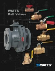 WATTS Ball Valves - Clean My Water