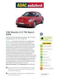 VW Beetle 2.0 TSI Sport DSG - Volkswagen AG