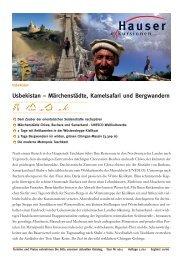 Usbekistan – Märchenstädte, Kamelsafari und Bergwandern