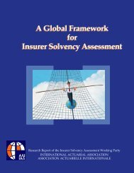 A Global Framework for Insurer Solvency Assessment, A Report by ...