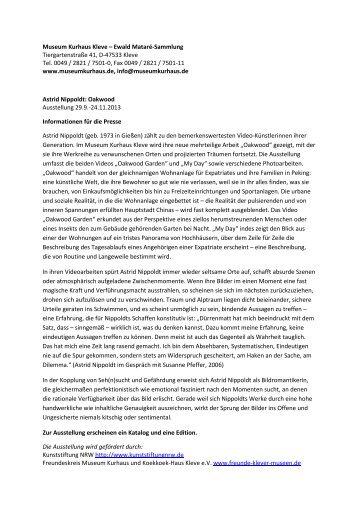 Nippoldt - Info Mail-Version - Museum Kurhaus Kleve