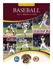 Baseball guide - Walsh University