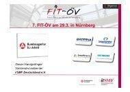 7. FIT-ÖV am 29.3. in Nürnberg