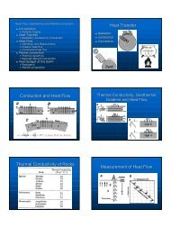 Heat flow, thermal conduction, geothermics, thermal convection