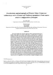 Geochemistry and petrography of Western Tethys Cretaceous ...