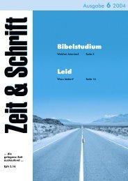 Heft 6/2004 - Zeit & Schrift