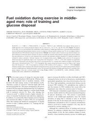 Fuel oxidation during exercise in middle- aged men: role of ... - Free