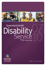 Queensland Health Disability Service Plan 2007–2010