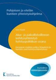 Alue- ja paikallishallinnon kehitysyhteistyö ... - Kunnat.net