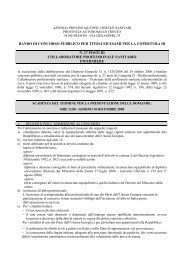 bando di concorso pubblico per titoli ed esami per la copertura di n ...