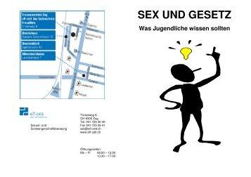 Flyer Sex Gesetz - Frauenzentrale Zug