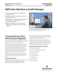Machinery Health Manager - Emerson Process Management