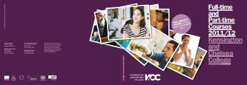 Full-time and Part-time Courses 2011/12 - Kensington and Chelsea ...