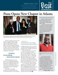Posse Opens New Chapter in Atlanta - The Posse Foundation