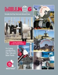 For Cutting and Machining Pipe, Tube and Boiler Panels - ESCO Tool