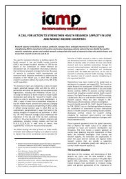 Call for Action to Strengthen Health Research Capacity in ... - IAMP