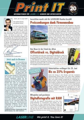 Preissenkungen dank Firmenneubau Offsetdruck vs. Digitaldruck ...