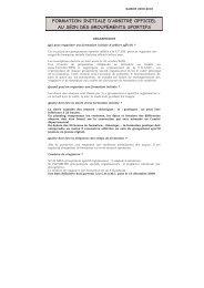 formation initiale d'arbitre officiel au sein des groupements sportifs