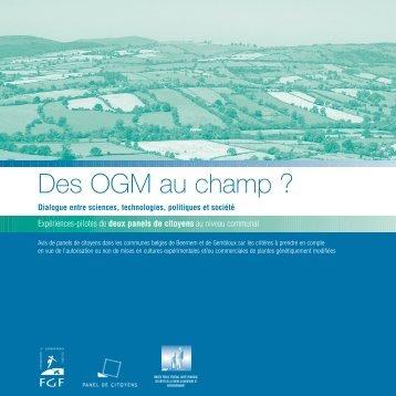 Télécharger la publication Des OGM au champ - FGF