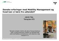 Danske erfaringer med Mobility Management og hvad kan vi lære ...