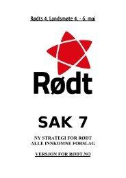 Rødts 4. Landsmøte 4. - 6. mai - Rød Ungdom
