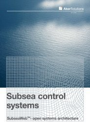 Subsea control systems brochure - Aker Solutions