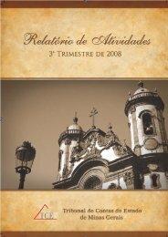 Relatório de Atividades - 3º Trimestre de 2008 - Tribunal de Contas ...